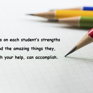 Focus on each student's…